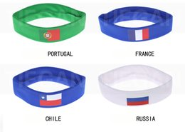 Wholesale Cup Accessories - 2018 Russia World Cup Theme football fan Headband Soccer Fan Scarf football fan Accessories Brazil National Team Fag Banner
