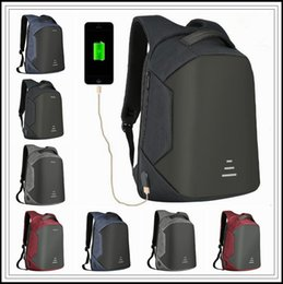 Wholesale Laptops 16 - 4 Colors USB Charge Backpack Anti-theft Backpack 16 Inch Laptop Backpacks Unisex Waterproof Backpacks Computer Bags CCA9272 20pcs