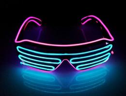 Palla da ballo pvc online-Maschera da ballo a LED per feste Maschera per DJ, Lampeggiamento rapido EL LED Occhiali Luminosi per feste Illuminazione classica incandescente Giocattoli classici per maschera da ballo