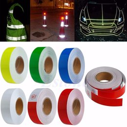 "Wholesale Reflective Safety Tape - Wholesale- 2016 50M 2"" Width 6Color Safety Caution Reflective Warning Tape Sticker Adhesive Tape"