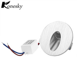 Wholesale Recessed Lighting Stairs - Warm White Led Wall Lamp 3W Round LED Recessed Porch Pathway Step Stair Light Wall Lamp Basement Bulb AC85-265V