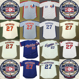 Wholesale hockey jerseys sizes - Vladimir Guerrero Jersey With 2018 Hall Of Fame Patch Los Jerseys Montreal Expos Men Women Youth Size S M L 2XL 3XL 4XL 5XL