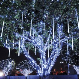 Wholesale Indoor Wedding Decor - Multi-color 30CM Meteor Shower Rain Tubes AC 110-240V Christmas String Light Garden Wedding Party Holiday xmas String Light Tree Decor