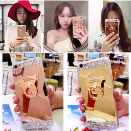 Titulaire De Diamant Bling Avec Support Kickstand Mirror Plating Cover Étui Coque Arrière Pour iPhone XS Max XR X 8 Plus 7 6 Samsung Galaxy Note 9 S9 S8 ? partir de fabricateur