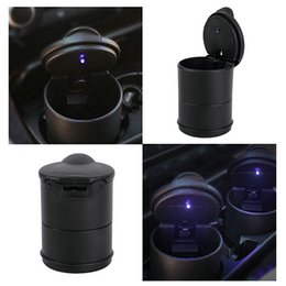 Wholesale Car Cigarette Holders - Portable Auto Car Truck LED Cigarette Smoke cigar car Ashtray cinzeiro asbak Ash Cylinder Cup Holder free shipping
