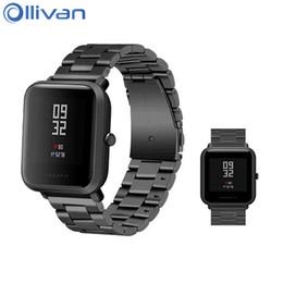 2019 ersatz für uhren Ollivan Ersatz Metallband für Xiaomi Huami Amazfit Bip BIT Lite Jugend Smart Watch Tragbare Handgelenk Armband Uhrenarmband 20 MM rabatt ersatz für uhren