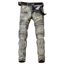 8def6cdc6c1c1 China Autumn Vintage Mens Jeans Biker Ripped Washed Faded Hip Hop Jeans  Pants For Men Size