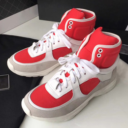 Wholesale Womens Shoes High Top Sneakers - New womens high top green suede red bottom casual shoes,fashion gentleman designer lace-up sneakers size 35-40