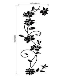 Vinile a parete della vite online-Nuovo Wall Sticker Fiore Vine Decalcomanie Nero Murale Smontabile del vinile Art Home Decor baby room carta da parati per camera dei bambini