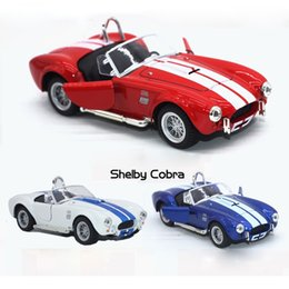 Wholesale car cobra - 1 32 Scale Ford 1965 Shelby Cobra 427 S C Supercar Diecast Metal Pull Back Car Model Toy