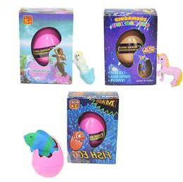 EVA test passed unicorn mermaid and tropical fish Easter egg novelty bubble kid toy small gift with retail package Coupons