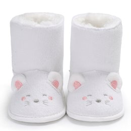 Wholesale Kids Snow Boots Size 11 - 0-12 months Lovely Cartoon winter Baby Snow Boots Warm Toddler Boy Girl Kids Shoes Newborn Baby Shoes free shipping B148