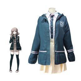 Anime uniforme ragazza di scuola online-Nanami ChiaKi Costume Danganronpa 2 Cosplay Girl School Uniform donne vestito da marinaio giapponese Anime Cosplay Costume di Halloween