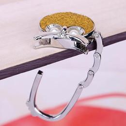 Wholesale Clothes Support - Eagle Frog Folding Purse Handbag Hanger Hook Holder Portable Bag Support Hook Table Home Decor Zinc Alloy