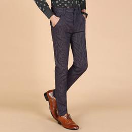 2019 nuevo diseño de moda de marca pantalón Moda 2015 Nueva alta calidad para hombre pantalones casuales hombres diseño de negocios Pantalones de algodón hombres pantalones Nueva marca Moda Slim Fit rebajas nuevo diseño de moda de marca pantalón