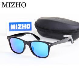 2019 polímeros plásticos Memória MIZHO Polímero Material Plástico Quadrado dos homens Óculos De Sol Das Mulheres Polarizada Real Visual Cor Escudo Oculos Clássico Eyewear polímeros plásticos barato