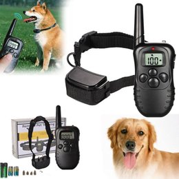 Wholesale Remote Shock - 100LV 300M LCD Remote Electric Shock Vibrate Pet Dog Training Collar Waterproof BBA261