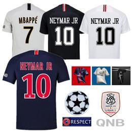 a096ce032 2018 19 MBAPPE Maillots NEYMAR JR Soccer Shirt CAVANI Uniform DI MARIA  Maillot Men Survetement Man Football Kit Champions Shirt S-XXL