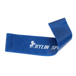 Wholesale Wrist Ankle Bands - blue latex resistance workout exercise pilates yoga bands loop wrist ankle elastic belt energy ring for freeshipping
