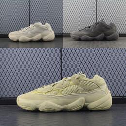 Argentina 2018 Desert Rat 500 Kanye West Zapatos para correr Hombres Mujeres Super Luna Amarillo Barato Zapatillas de deporte de la mejor calidad EE. UU. 5-11.5 supplier super cheap running shoes Suministro