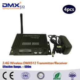 Lumières de scène lcd en Ligne-DHL Livraison Gratuite LCD sans fil DMX512 ReceiverTransmitter pour la lumière de la scène