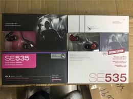 Auriculares de aislamiento de sonido online-2018 Nuevo SE535 Triple Driver Sonido con aislamiento en la oreja Auriculares Auriculares Auriculares con paquete al por menor