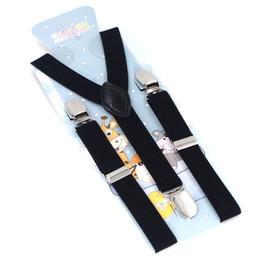 Wholesale Kids Leather Pants - Baby Suspenders 3Clips PU Leather Braces Kids Suspensorio Elastic Adjustable Tirantes Bretelles Pants Strap 2.5*65cm