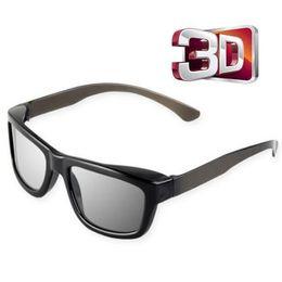 Occhiali 3D 5 colori Visione anaglifi Occhiali 3D stereo polarizzati stereo in plastica per film TV al plasma da