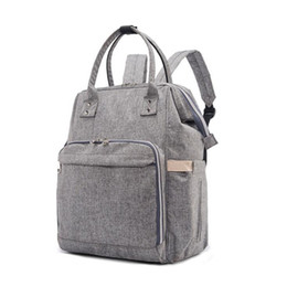Wholesale Large Gray Handbag - 2017New Brand Baby Bag Fashion Nappy Bags Large Diaper Bag Backpack Maternity Bags For Mother Baby Nappy Handbag