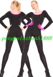 Argentina Sexy Body Suit New Black / Pink Lycra Spandex Traje Traje Traje Traje Con Guante Rosa Unisex Body Trajes Fiesta de Halloween Cosplay Suit P299 cheap black lycra gloves Suministro