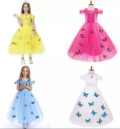Wholesale Diamond Ball Dresses - Baby Girls butterfly lace Dress Christmas Tutu princess Dresses Kids snowflake diamond Party Dress B11