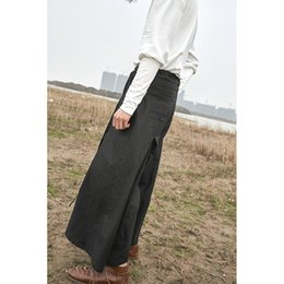 Wholesale Fly Seven - S~4XL! New Men's Clothing PLUS SIZE Independent original linen thin wide leg pants retro stripe loose seven points pants