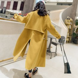 Wholesale double breasted wool cape coat - Fashion New 2018 Women Long Cape Wool Coat Sexy Slit Woollen CoatS High Quality Free shipping Thicken Winter Outwear Coats