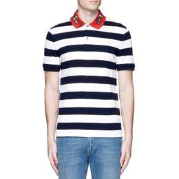 Wholesale Blue T Shirts For Men - mens polo shirt Luxury Brand embroidery t shirts for men Italy Fashion poloshirt shirt men High street Snake Little Bee print t shirts