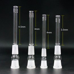 water bong diffuser Coupons - Wholesale glass downstem 14mm 18mm to 18mm, 14.4mm to 18.8mm Male Female glass down stem diffuser adapter for bongs water pipes