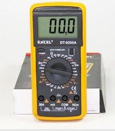 Wholesale Digital Dc Voltmeter Ammeter - DT9205A Digital Multimeter AC DC LCD Display Professional Electric Handheld Tester Hot Sell Excel DT-9205A Ammeter Voltmeter