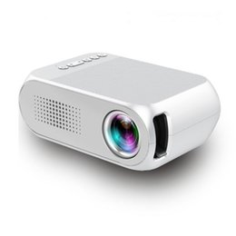 Wholesale Mini Hdmi Projector Free Shipping - Portable LED Mini Projector Home Theater Cinema 1080P Video HDMI USB Pocket Proyector Built-in Speaker Free Shipping