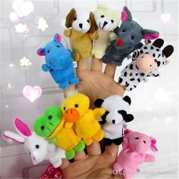 2019 brinquedos agrícolas por atacado Atacado-2016 10PCS Farm Zoo Animal Fantoches de dedo Brinquedos Meninos Meninas Babys Party Bag Filler NOVO kawaii brinquedos de pelúcia brinquedos agrícolas por atacado barato