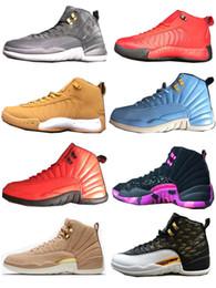 Wholesale purple wing shoes - Classic 12 Basketball Shoes Unisex 2018 Designer Sneakers JUMPMAN PRO Doernbecher Vachetta Tan Wings Running Shoes
