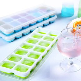 Wholesale Plastic Mold Cover - 2pcs Silicone Chocolate Mold Maker Ice Cube Tray Freeze Mould Bar Pudding Jelly With Cover