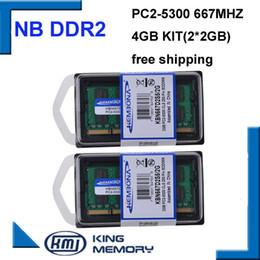 mémoire RAM KEMBONA meilleure vente double canal 4 Go 2x2GB PC2-5300 DDR2 667 Mhz SO-DIMM 200 PIN ordinateur portable ddr2 mémoire RAM Mémoire Livraison Gratuite ? partir de fabricateur