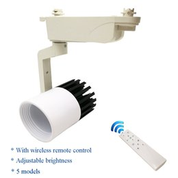 Wholesale Spot Luz - Dimmable Cob LED track light 20w with Wireless remote control led spot lamp store shop lighting rail spotlights fixture luz