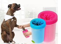 Wholesale Grooming Dogs - Soft Silicone Brush Pet Foot Washer Cup Puppy Dog Foot Washer Dirty Washing Tools Soft Pet Squeeze Hand Foot Cleaning Cup Top Quality