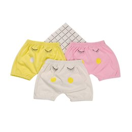 Wholesale Yellow Pants For Baby - Summer new male and female baby PP shorts summer pure cotton leisure big fart shorts children pants suitable for height 56-100CM