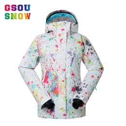 331cf4c4ce GSOU SNOW Women Ski Jacket Breathable Girls Snow Jacket Waterproof High-Q  Skiing And Snowboarding Warm Female Windproof