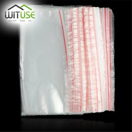 Wholesale Bag Thickness - WITUSE 100PCS Zipped Lock Reclosable Plastic Poly Clear Bags Jewelry Ziplock Thickness Organizer Storage Bag