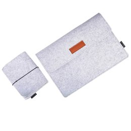 """Wholesale Felt Laptop Cover - Dodocool 12 Inch Laptop Felt Sleeve Envelope Cover Ultrabook Carrying Case Notebook Protective Bag with Mouse Pouch for 12"""" Apple MacBook"""