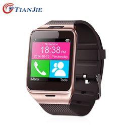 Reloj mp3 bluetooth resistente al agua online-Smartwatch Gv18 Bluetooth Health Mp3 impermeable dispositivo portátil podómetro con tarjeta SIM Mobile GSM reloj inteligente teléfono Android