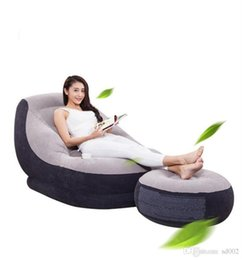 2019 amerikanisches möbel schlafzimmer Faltbares aufblasbares Sofa mit Pedal Footstool-Spiel-Stuhl für das Ablesen Freizeit-übergroßes multi Funktions-kreatives Bett gute Qualität 86ab dd
