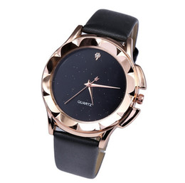 Wholesale Cheap Glasses Straps - New Best Cheap Price Star Minimalist Fashion Watches For Lovers Leather Strap Lady Hours Watch wholesales